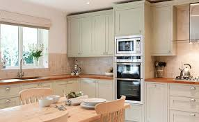 home kitchen furniture. Kitchen Furniture Designs. Pale Green Cabinets And Wood Counters Designs Home