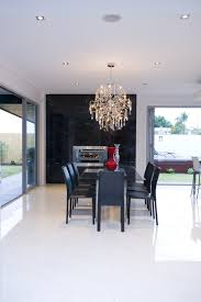top 53 magnificent crystal contemporary chandeliers for dining room above rectangle glass table black wooden chairs