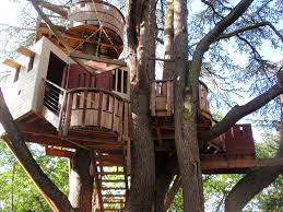 cool kid tree houses. Brilliant Tree Tree House With Multiple Levels And Decks Built Among Two Trees Throughout Cool Kid Houses