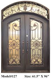 Valencia 61 ½ In. X 96 In. Wrought Iron Entry Double Doors Eyebrow ...