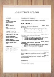 Resume Formats In Microsoft Word Cv Resume Templates Examples Doc Word Download