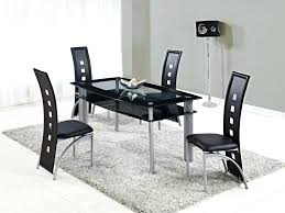 black table and chairs set kitchen chair pads set of 4 great black kitchen table and