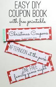 Ideas For Coupon Book Free Printable Kids Christmas Coupon Books