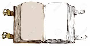 Une Illustration Tir E Par La Main Ouvert Vide Vieux Livre Le