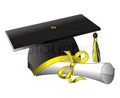 illustration formation hat diploma on white stock photo colourbox