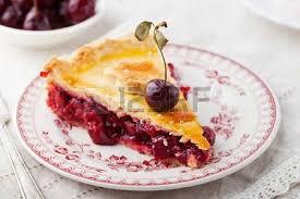 cherry pie slice with ice cream. Modren Pie Slice Of Cherry Pie With Ice Cream On A White Textile Background Stock  Photo  63948715 On Cherry Pie With Ice Cream