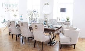 Esstisch Stühle Samt Beige