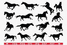 The largest data of free vector icons. Svg Horses Black Silhouette Digital Graphic By Designstudiorm Creative Fabrica