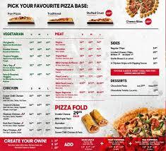 pizza hut full menu. Unique Hut Pizza Hut Menu On Full Zomato