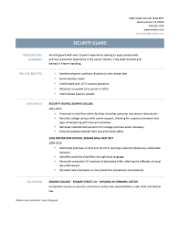 Resume For Security Guard Best Professional Security Officer Resume