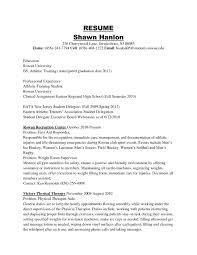 Athletic Training Resume Athletic Training Resumes Bunch Ideas Trainer Resume Examples Best 8