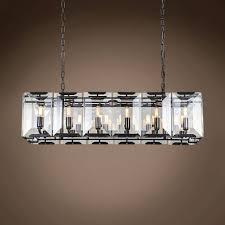rectangular pendant lighting. Top 73 Magic Large Chandeliers Glass Chandelier Black Pendant Lighting Rectangular Sparkling Greenhouse Crystal Simple Cheap L