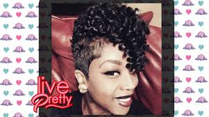 Crowshade Hair Style curly crochet braids on short hair precurled youtube 8659 by wearticles.com