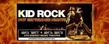 Kid Rock Detroit Seating Chart Kid Rock Dte Energy Music Theatre