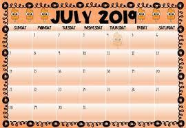 Monthly Academic Calendar 2019 2020 Printable Monthly Academic Calendar