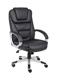 boss office products b8601 high back no tools required leatherplus chair in black amazoncom stills office