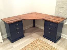 colorful custom bedford corner desk do it yourself home projects from ana white