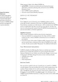 Calpers Retirement Chart 2 At 55 Your Calpers Benefits Planning Your Service Retirement Pdf