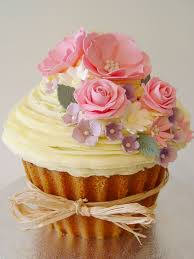 Giant Vintage Flowers Cupcake Cupcake Couture Giant Cupcake