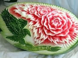 decoração com melancia: enfeite de mesa