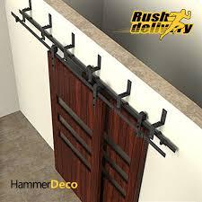 3050mm to 4880mm sliding barn door track top black sliding barn door hardware kits american interior