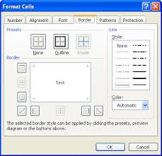 figure 1 the borders tab of the format cells dialog box