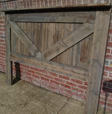 rustic king headboard queen headboard in vintage designed barn door style from solid knotty pine