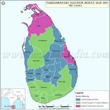 Map Of Sri Lanka Parliamentary Election Results 2015