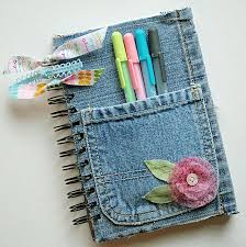 diy tutorial diy denim covered notepad tutorial great for a journal art notebook or back to school
