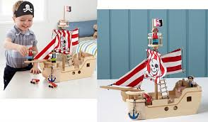 pirate ship wooden toys are sooooo in i have to admit i like them too they look traditional and require that little bit more imagination when playing