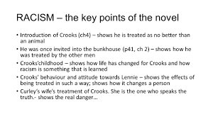 of mice and men national essay theme racism ppt racism the key points of the novel introduction of crooks ch4 shows