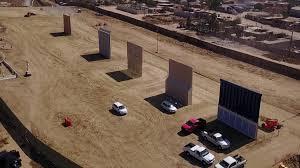 Mexico Border Wall Design Trump Border Wall Prototypes Take Shape Near San Diego