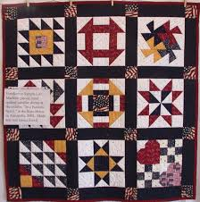 Quilts Show & Freedom to Sample Life: This quilt was machine pieced and hand quilted, and  was a sampler shown at the exhibit,