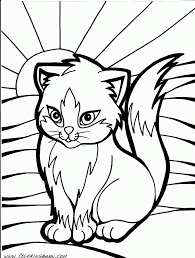 Small Picture Coloring Pages Coloring Pages Of Dogs And Cats Christmas Cat
