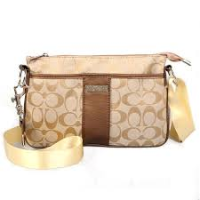 Coach Madison In Signature Small Yellow Crossbody Bags CFJ