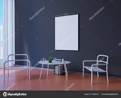 Brede Moderne Blauwe Behang En Interieur Decoratie 3d Illustrator