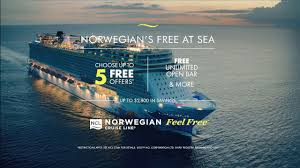 norwegian cruise line tv mercial 2019
