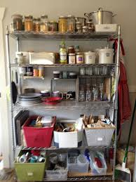 kitchen old fashioned rattan basket placed on wire shelving kitchen rh patahome com metal shelving diy wire shelves