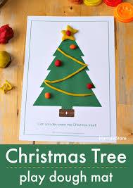 Printable Christmas Tree Printable Christmas Tree Play Dough Mat Nurturestore