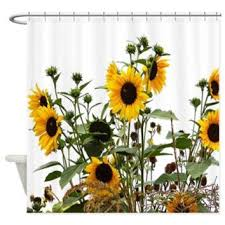 Sunflowers In Garden Shower Curtain> Garden Of Sunflowers> Flowersforyou