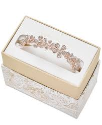Charte Club Rose Gold Tone Crystal Flower Bangle Bracelet Created For Macys