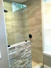 showers shower half wall glass door with showers astonishing walls panels cost