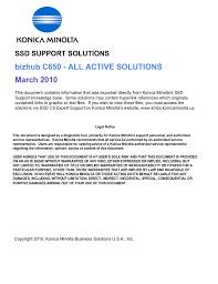 bizhub C650 - ALL ACTIVE SOLUTIONS March 2010 | manualzz.com