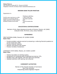 Bank Teller Resume No Experience Learning to Write from a Concise Bank Teller Resume Sample 43