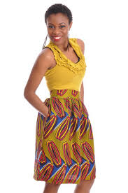 African Skirts Patterns Simple High Waist Skirt With Bold Print Patternsdp48 Dp48 African