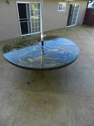 latest craze european outdoor furniture cement. Concrete Table Top, Round Patio Furniture Visions Below Laguna Niguel, Latest Craze European Outdoor Cement