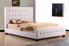 joseph crystal kingsize white bed frame white leather