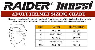 Raider Youth Helmet Sizing Chart Adult Raider Octane Full Face Motorcycle Helmet