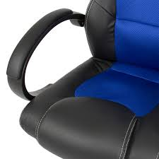 bcp executive racing gaming office desk chair pu leather swivel back com