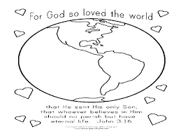 For God So Loved The World Coloring Page Beautiful Image Unique John